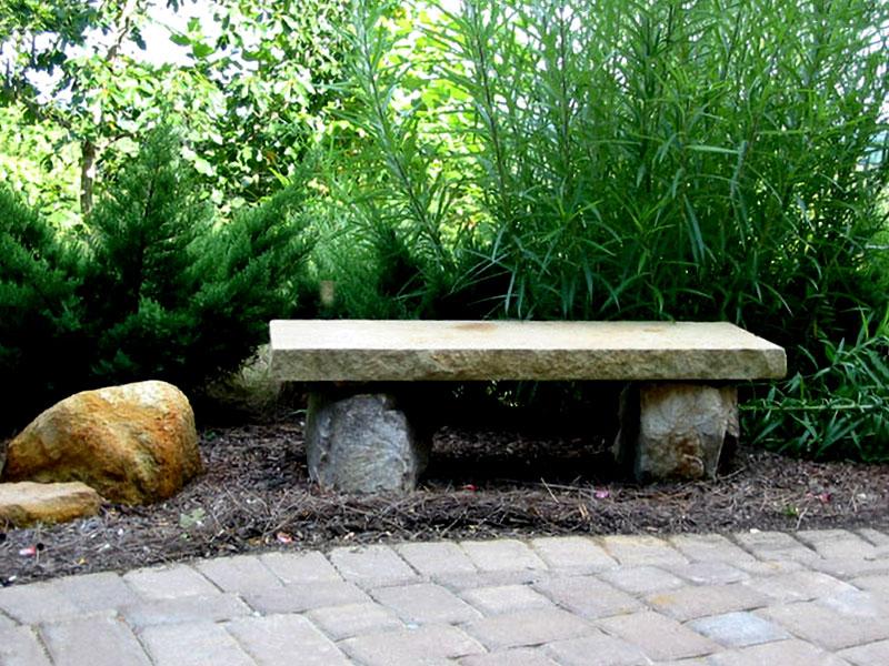 stone bench art example