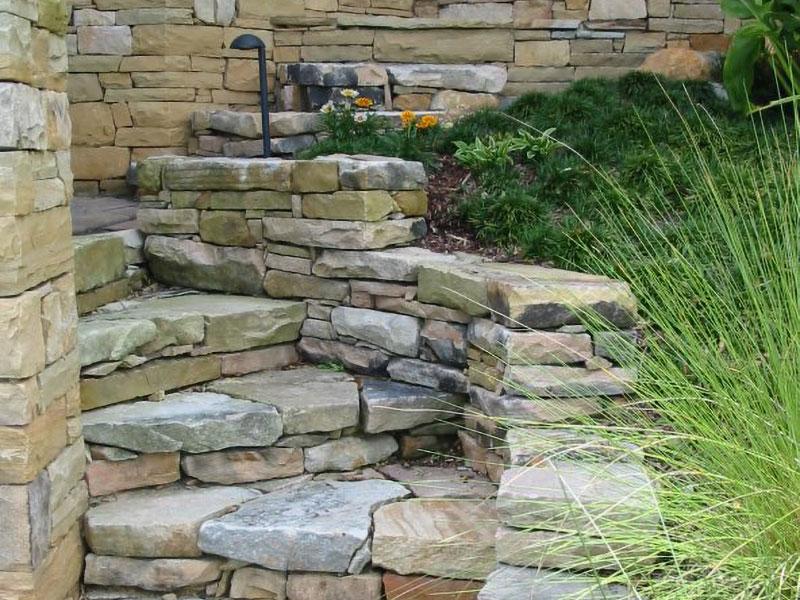 stone landscape steps