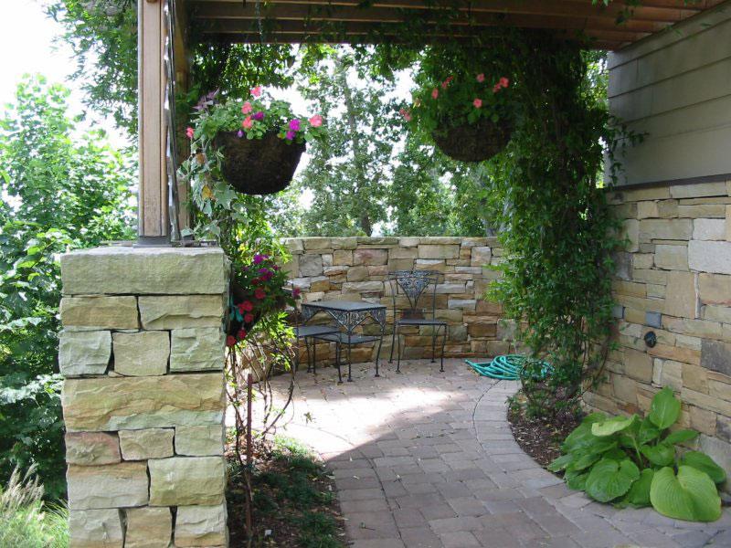 stone patio landscape example 2