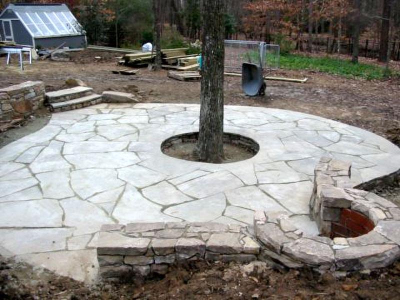 stone patio landscape