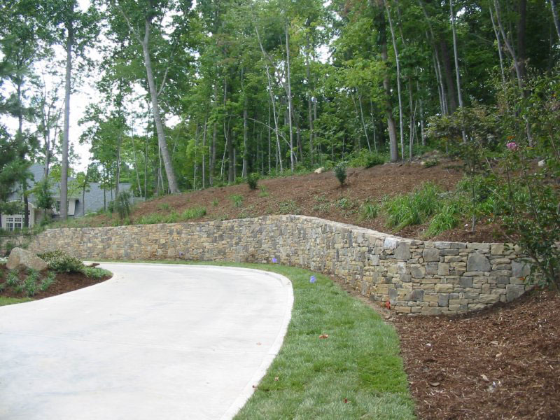 stone wall landscape example 2